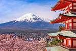 Fali poszter Japánban, látkép a Fuji hegyre