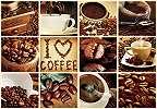 Fali poszter kávé mintával