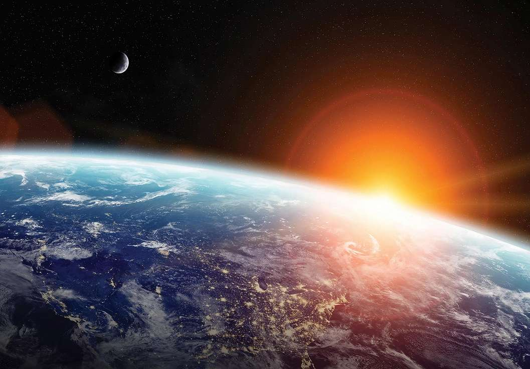 Fali poszter látkép a Földre a világegyetemből