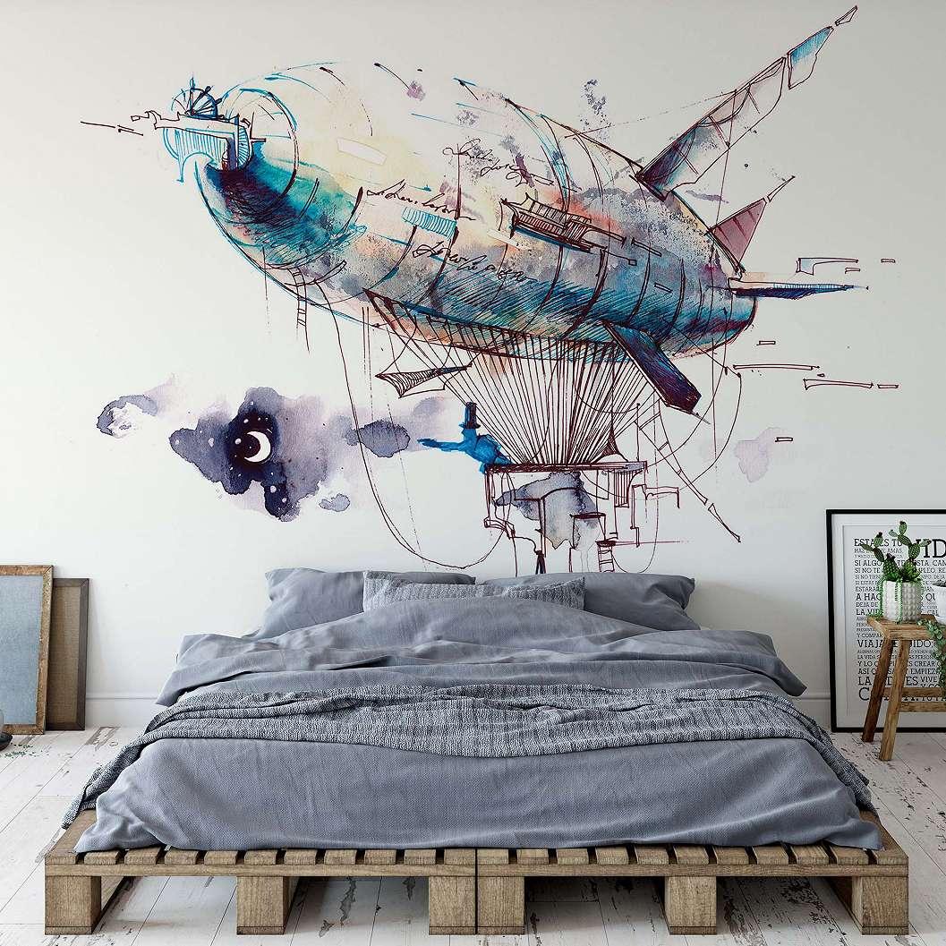 Fali poszter léghajóval