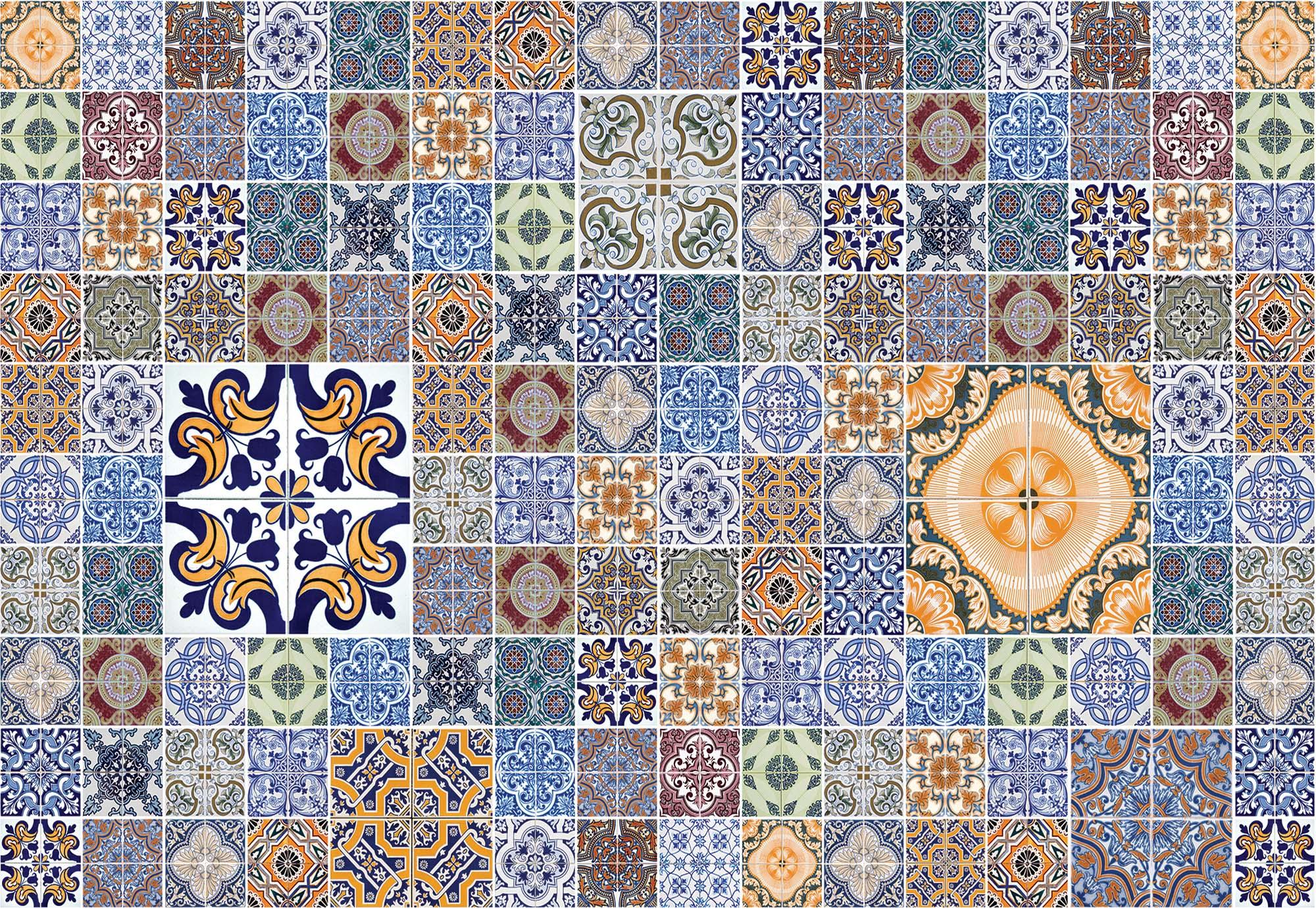 Fali poszter marokkói csempe mintával