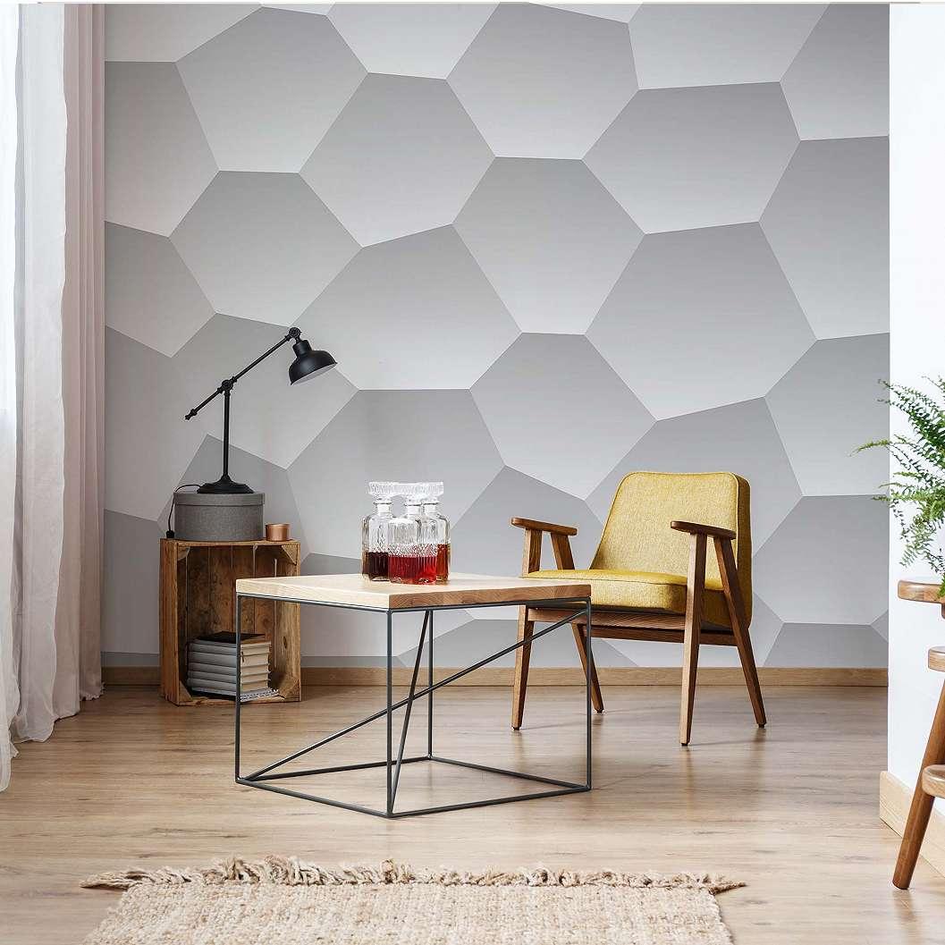Fali poszter méhsejt mintával modern fekete fehér színvilágú fali poszter