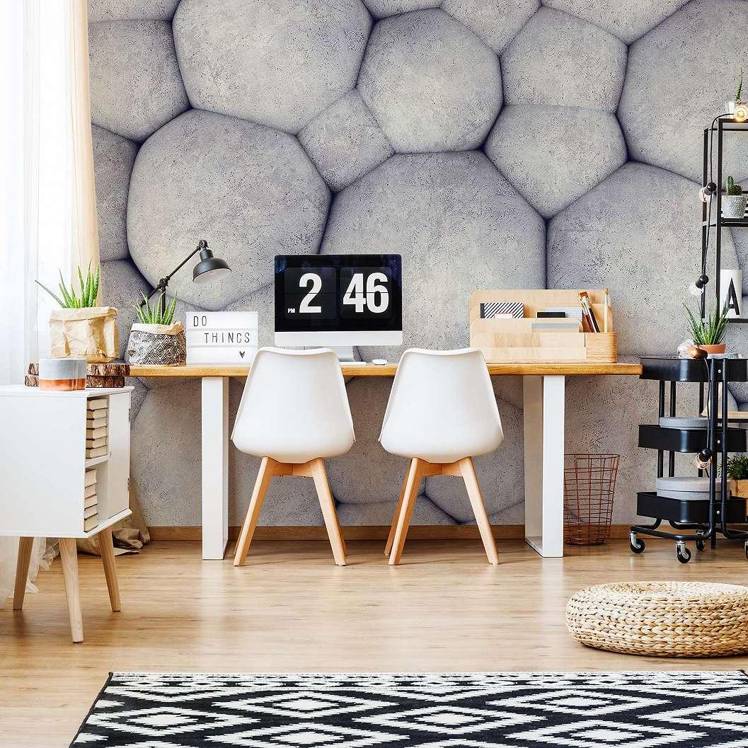 Fali poszter modern beton hatású 3D mintával