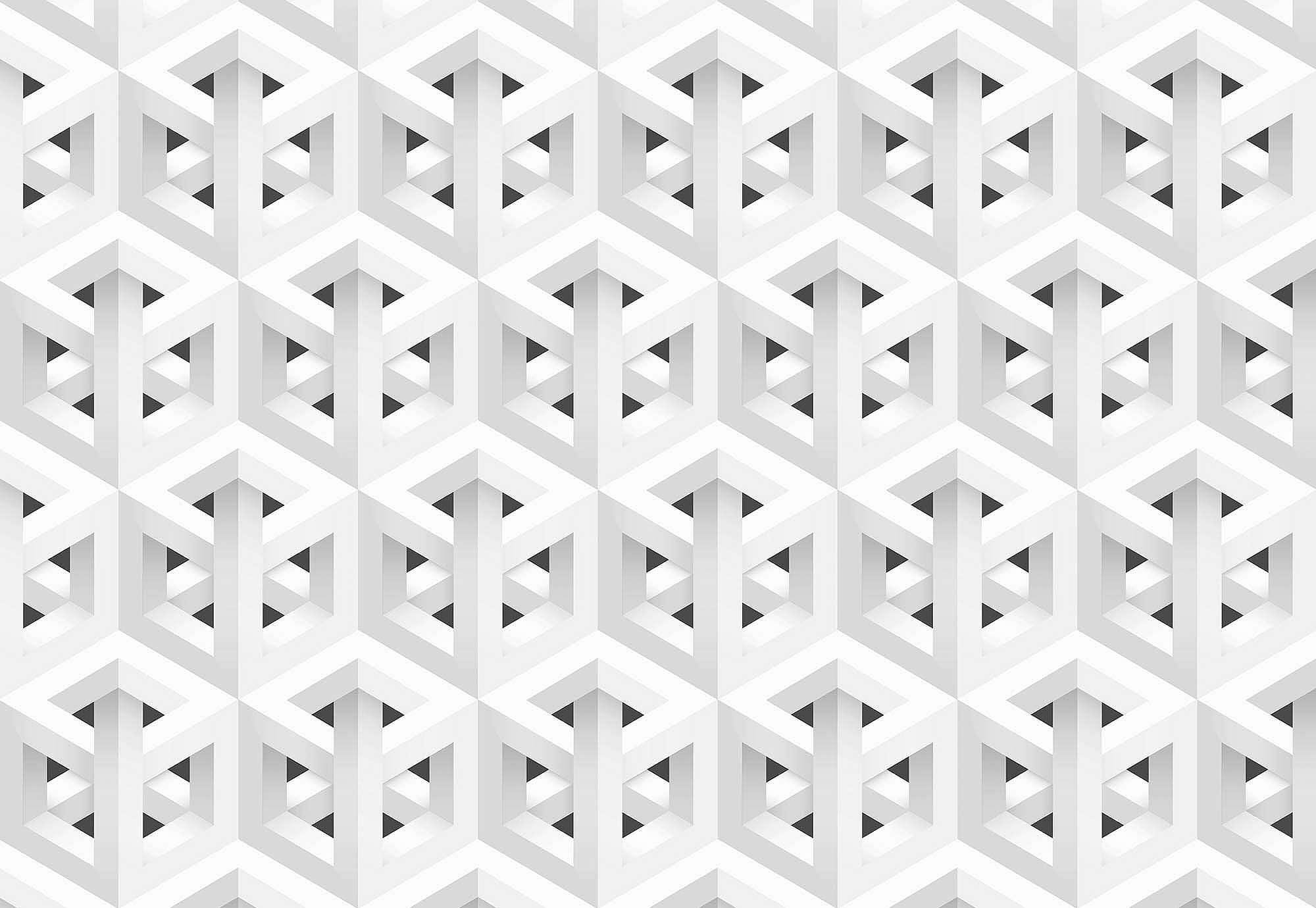 Fali poszter modern geometriai mintás fekete fehér színvilágban