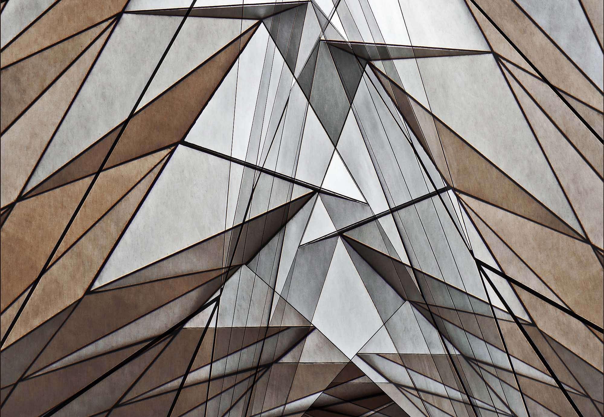 Fali poszter modern geometriai mintával