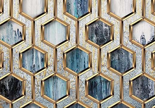 Fali poszter modern geometrikus mintával