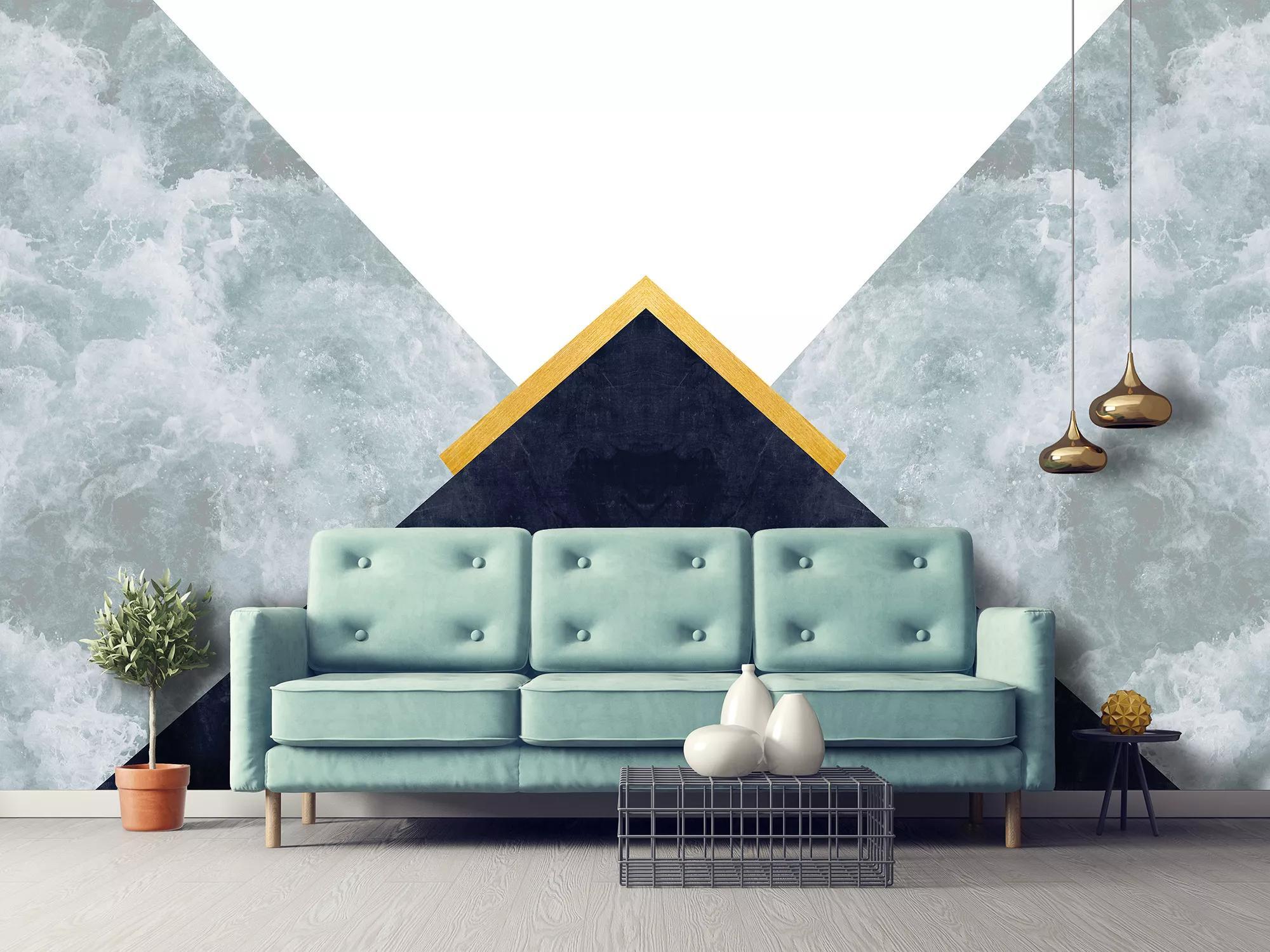 Fali poszter modern háromszög geometrikus mintával