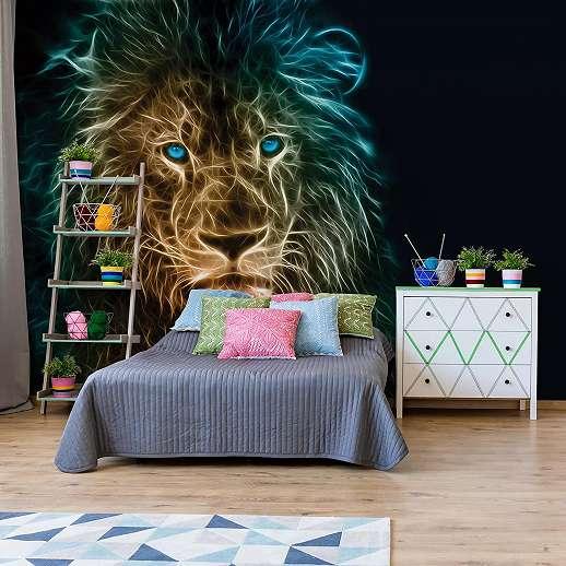 Fali poszter modern stílusban oroszlán mintával
