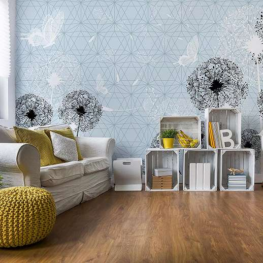 Fali poszter modern stílusban pitypang mintával