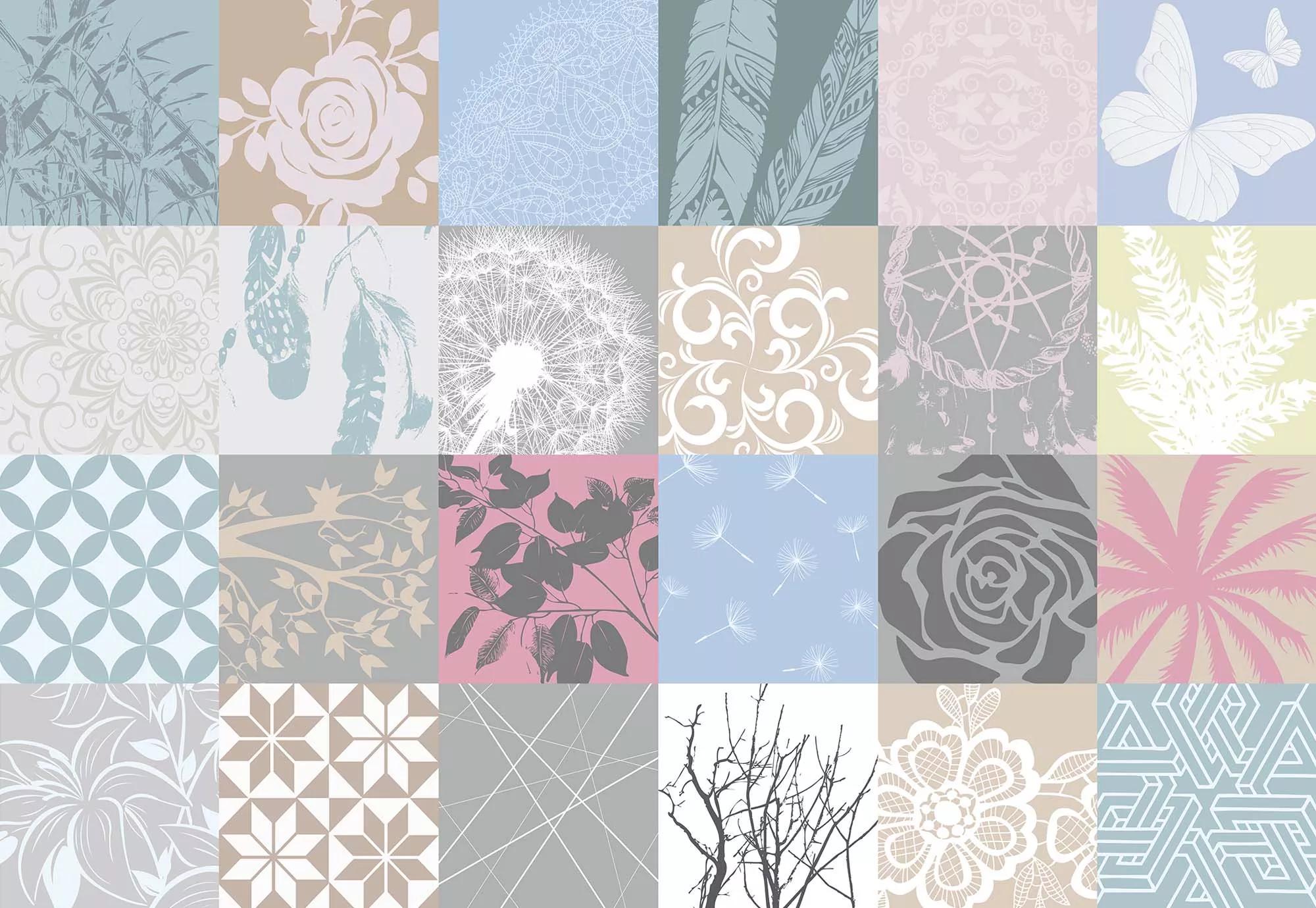 Fali poszter modern virág mintával
