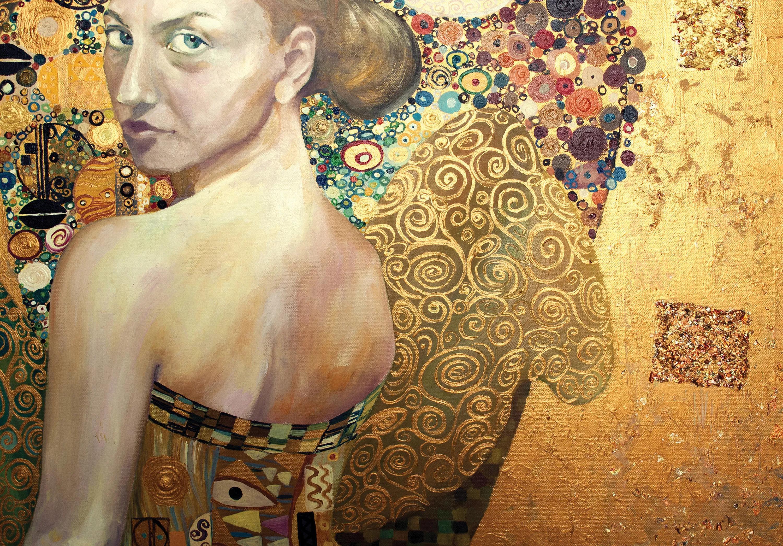 Fali poszter művészi fesményel elegáns enteriőrbe