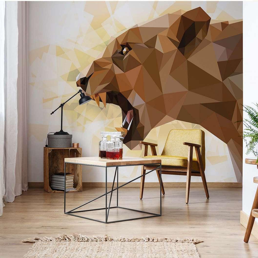 Fali poszter oroszlán mintával modern stílusban