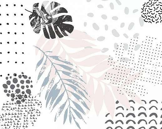 Fali poszter pálmalevél mintával minimalista stílusban