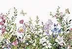 Fali poszter rajzolt mezei virág mintával