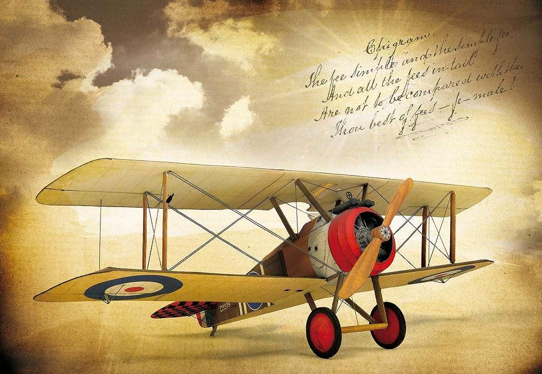 Fali poszter repülővel vintage stílusban