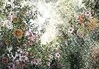 Fali poszter romantikus virág mintával