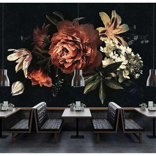 Fali poszter romantikus virágmintával