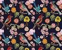 Fali poszter skandináv rajzolt stílusban virág és madár mintával