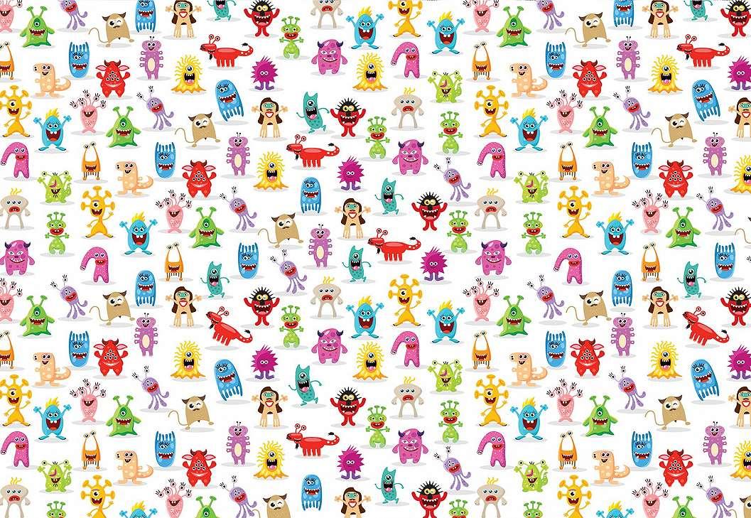 Fali poszter space monster figurákkal