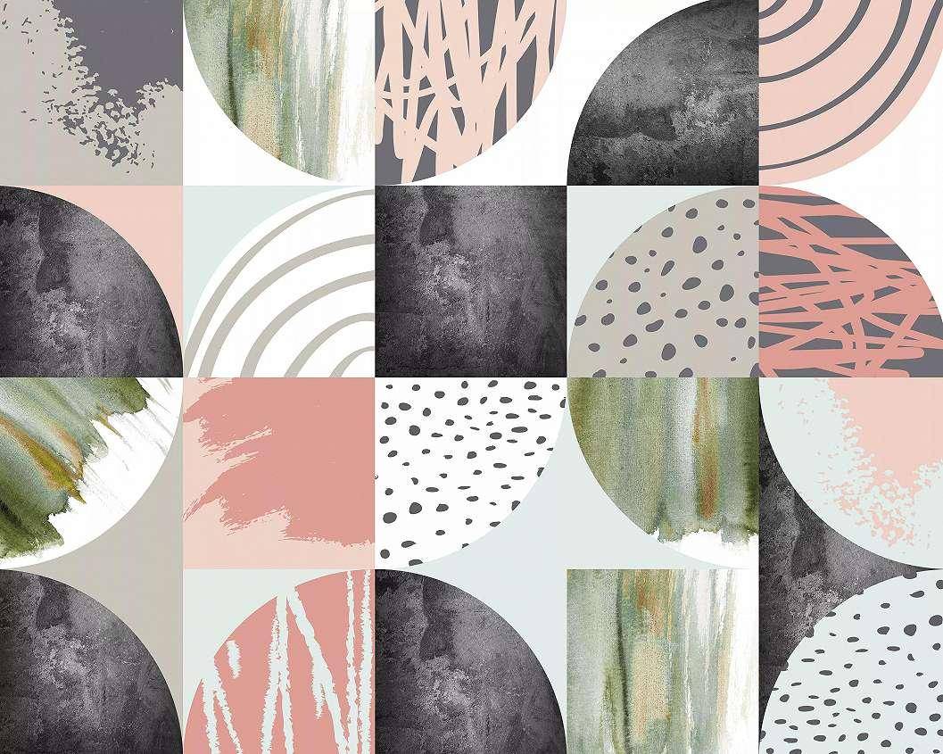 Fali poszter színes absztrakt geometrikus mintával