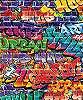 Fali poszter színes graffiti mintával
