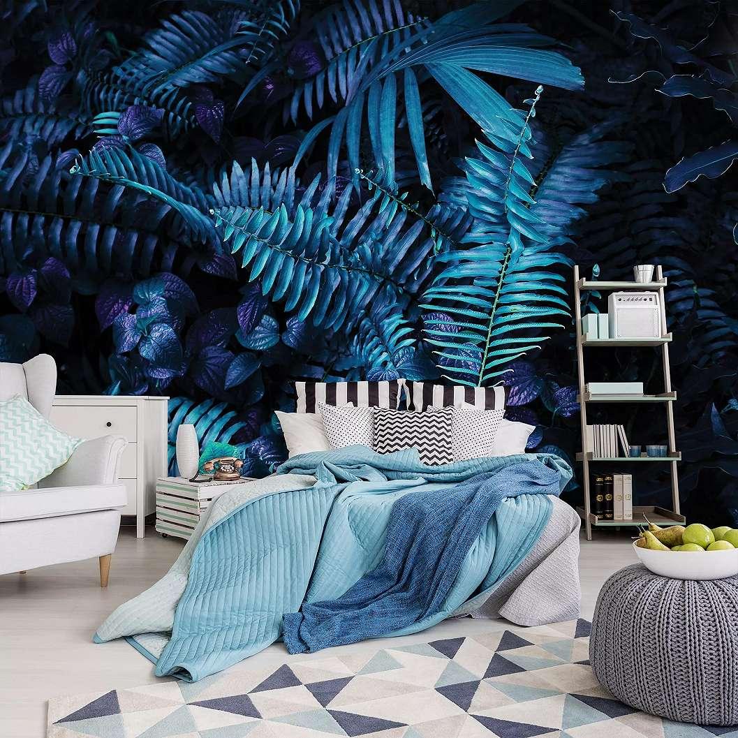 Fali poszter trópusi páfrány mintával szépia hatással