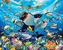 Fali poszter vicces tengeri állatokkal