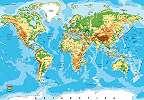 Fali poszter világtérkép mintával