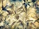 Fali poszter virágmintával szépia stílusban