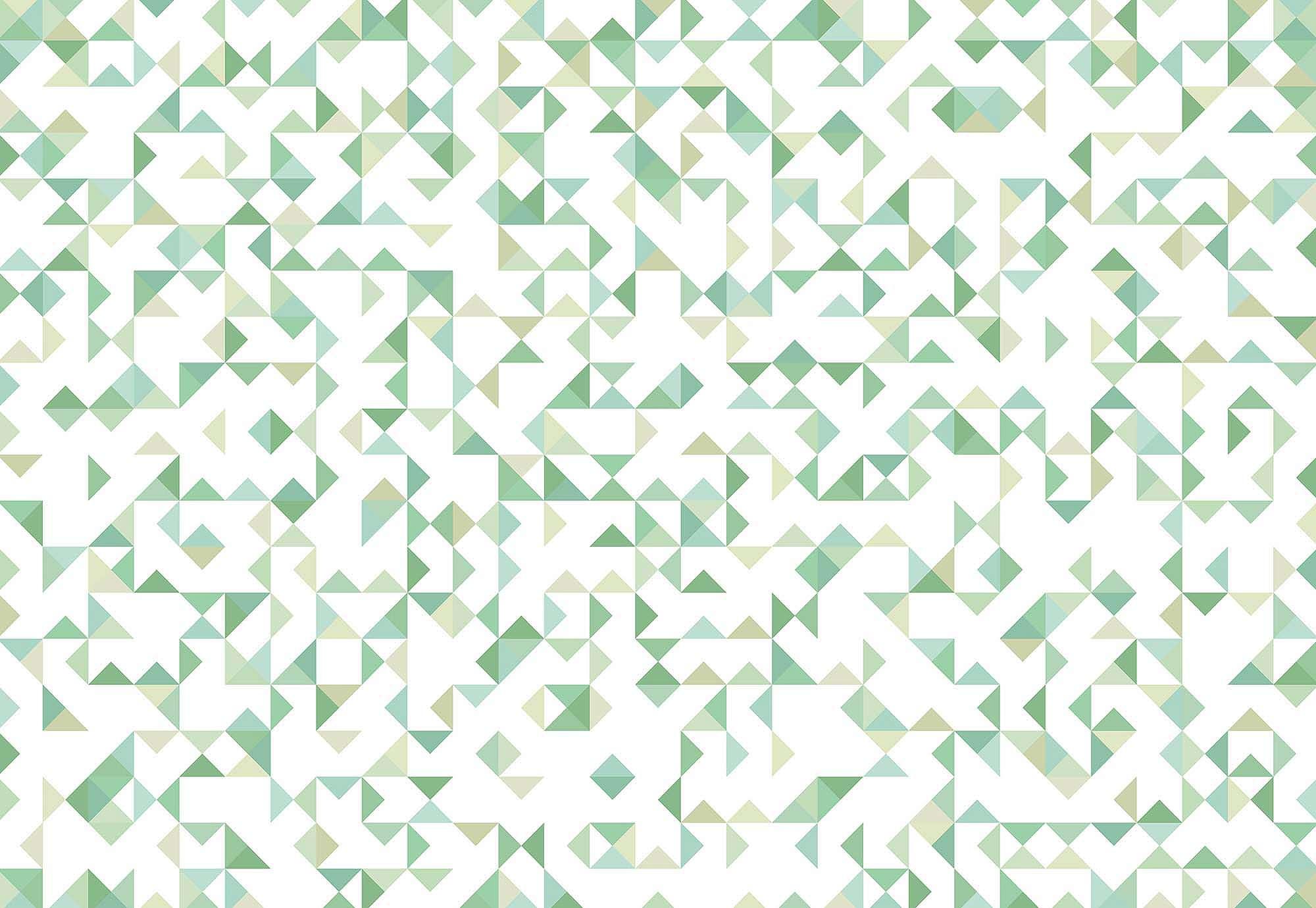 Fali poszter zöld modern geometriai mintás