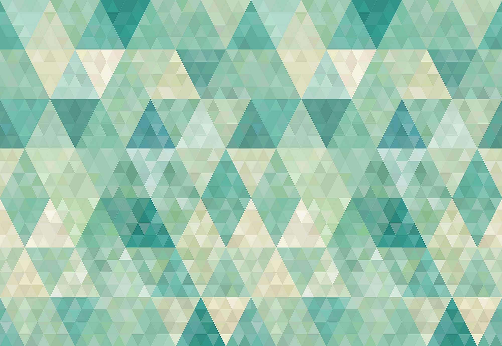 Fali poszter zöldes geometriai mintával