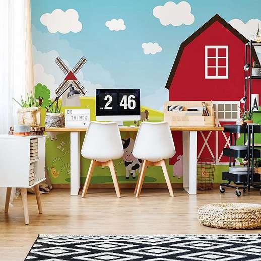 Farm kedves állatmintákkal gyerek fali poszter