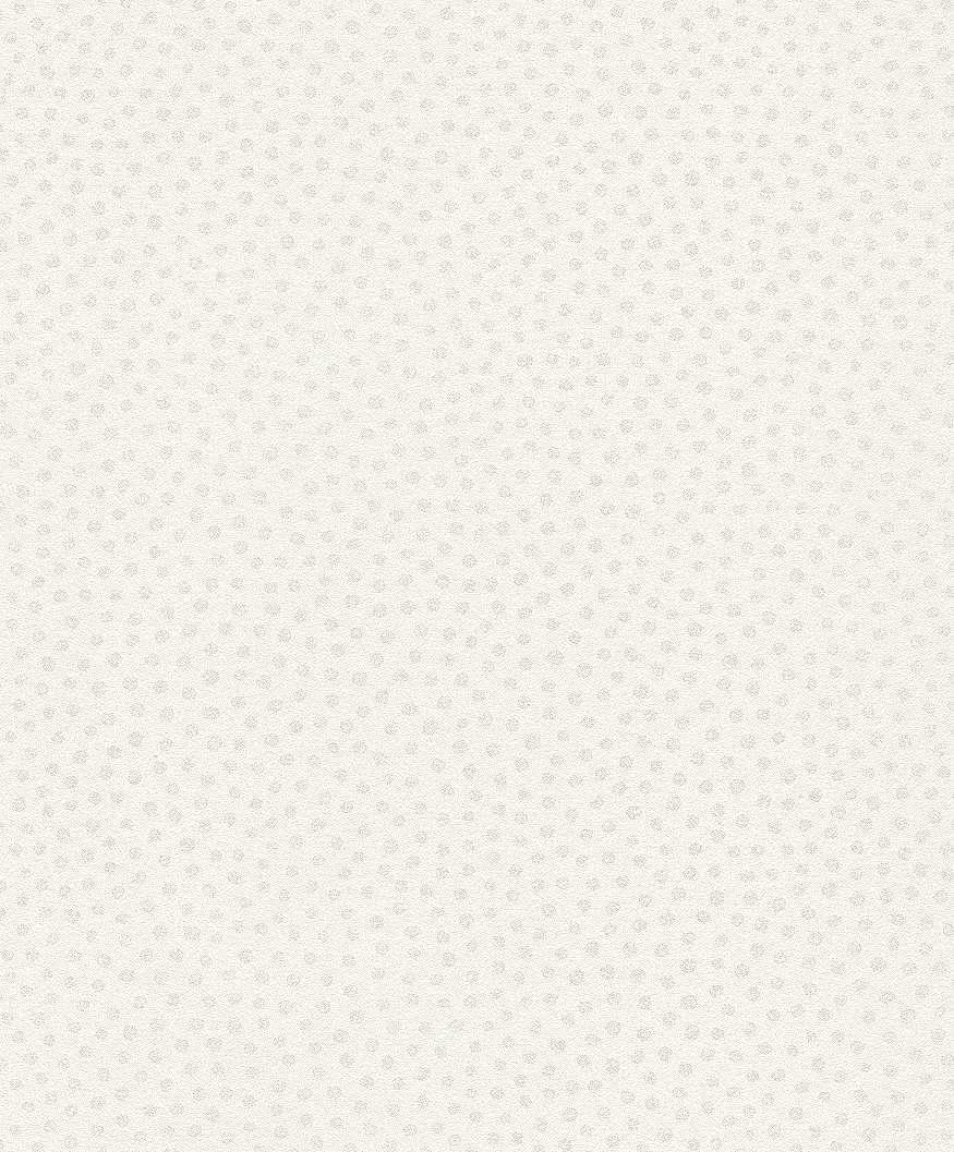 Fehér alapon apró ezüst pöttyös mintás tapéta