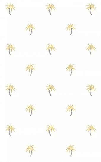 Fehér alapon arany apró pálmafa mintás vlies design tapéta