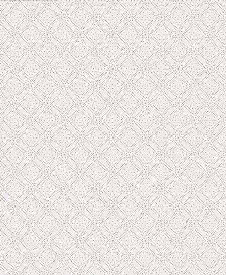 Fehér alapon arany pöttyös geometrikus mintás vlies dekor tapéta