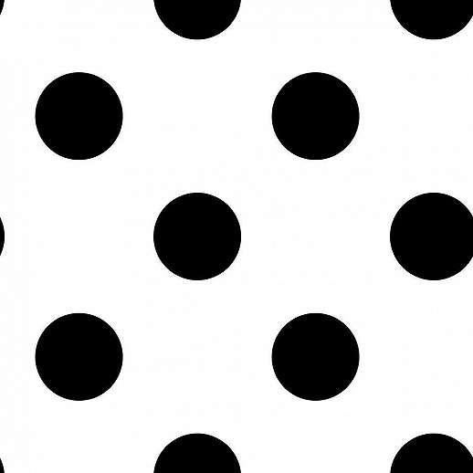 Fehér alapon fekete pöttyös mintás gyerektapéta