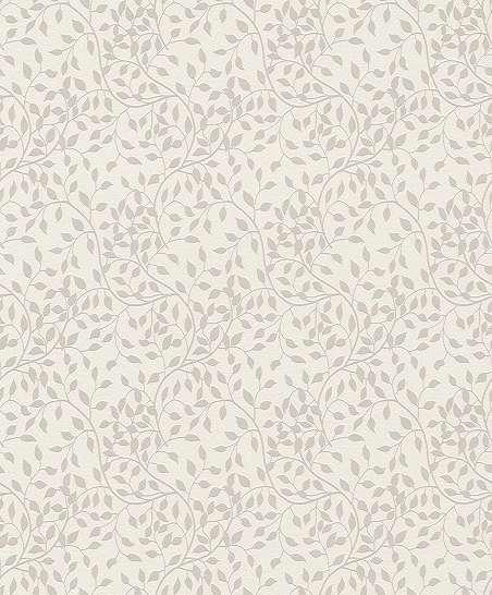 Fehér alapon fényes felületű apró levélmintás elegáns taptéa