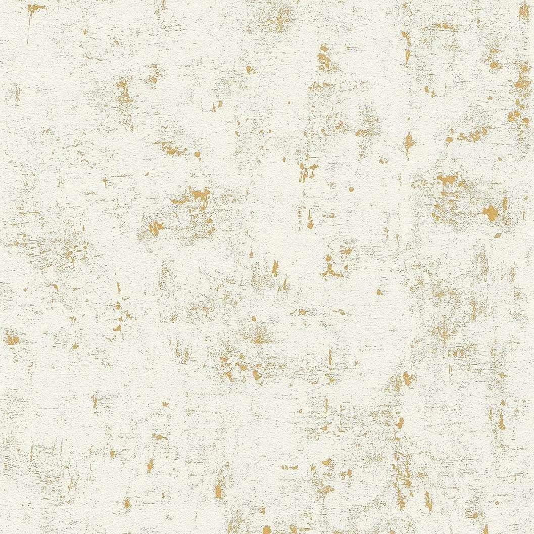 Fehér-arany koptatott hatású dekor tapéta