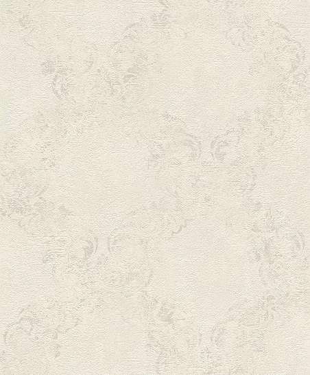 Fehér barokk mintás tapéta fényes mintafelülettel