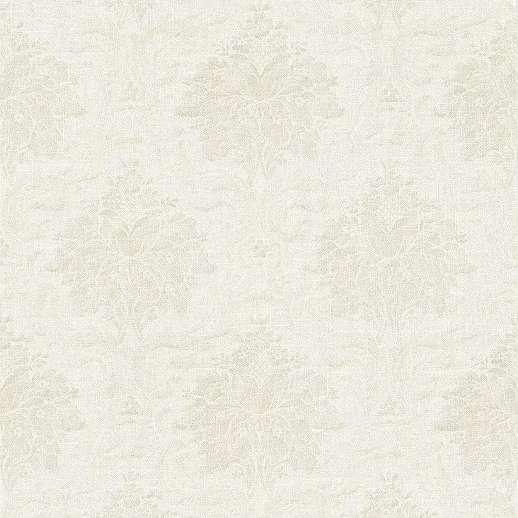 Fehér-ezüst klasszikus barokk mintás mosható felületű vlies tapéta