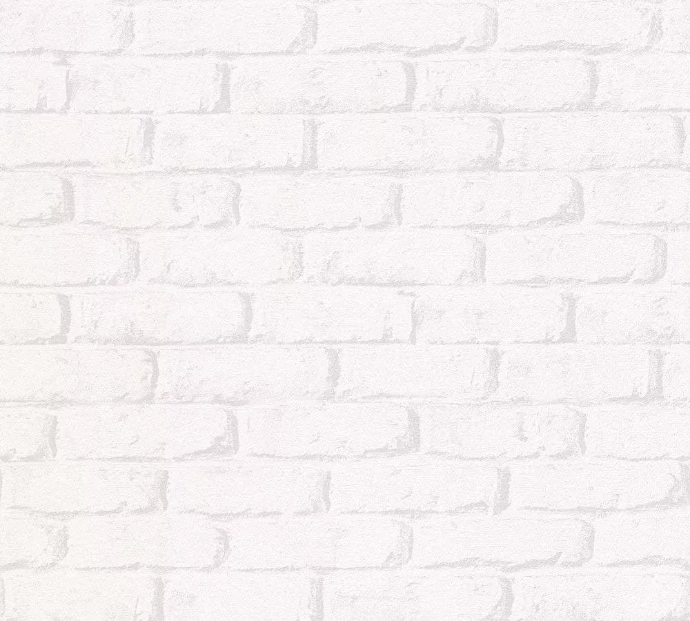 Fehér téglamintás papir tapéta gyerekszobába