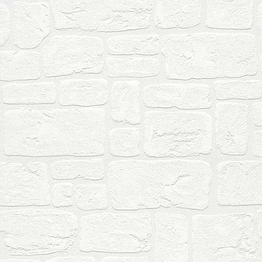 Fehér téglamintás tapéta habosított felülettel