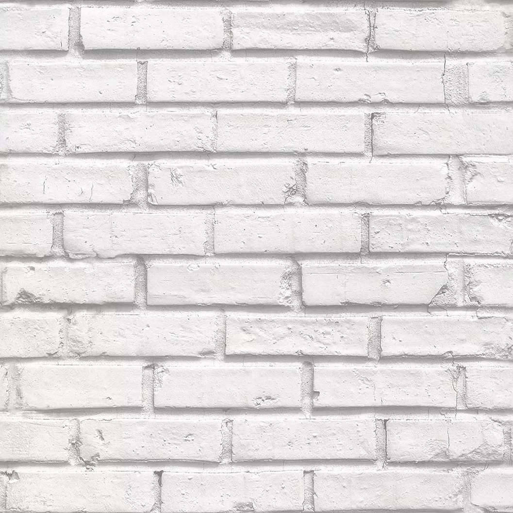 Fehér téglamintás vlies tapéta