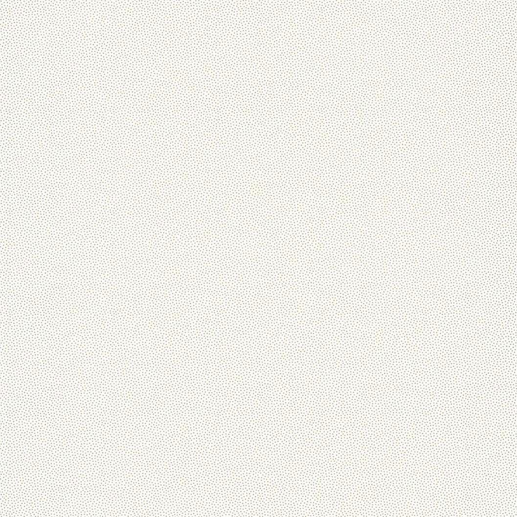 Fehér vlies tapéta apró arany pöttyös mintával