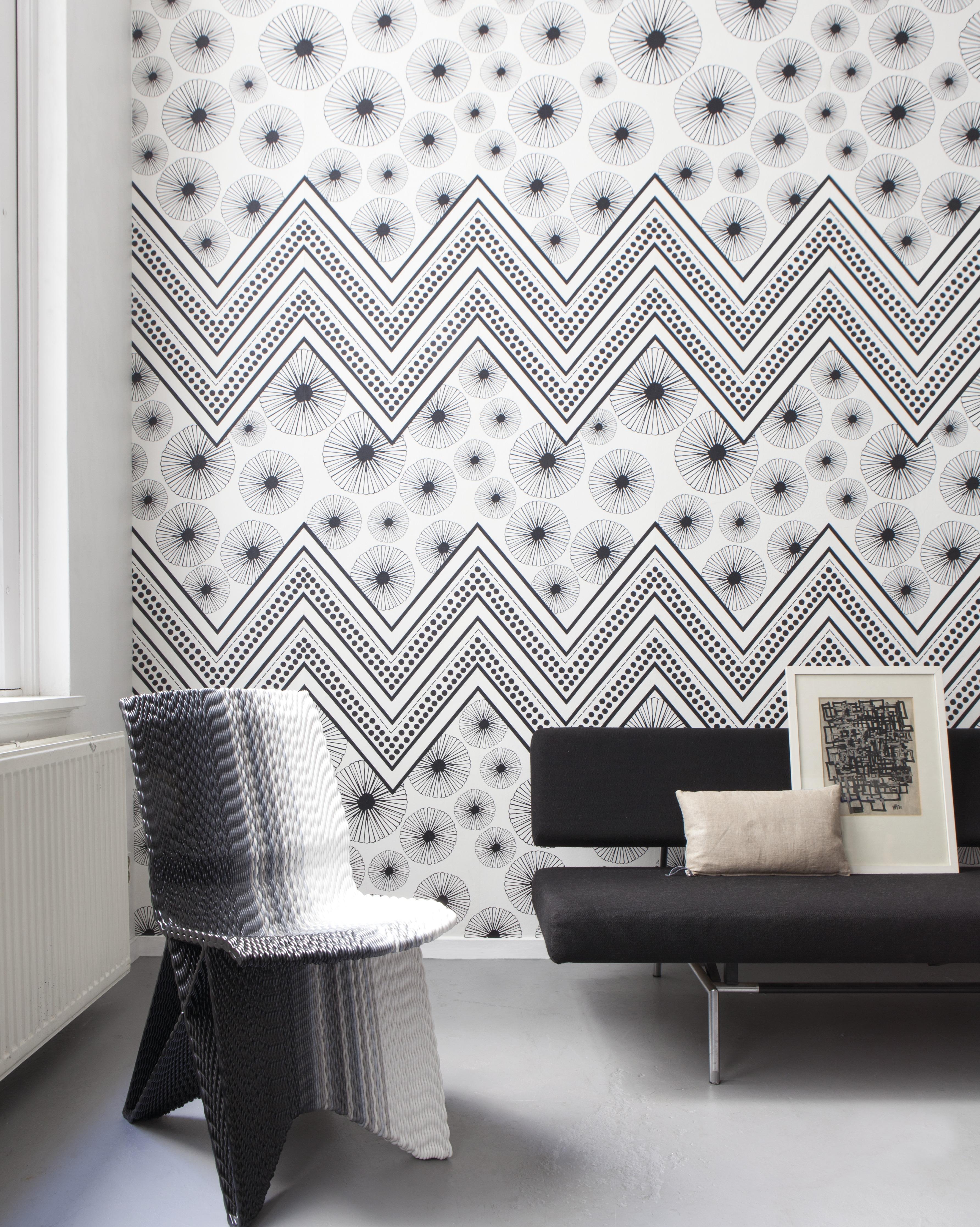 Feket fehér geometria mintás skandináv hangulatú fali poszter