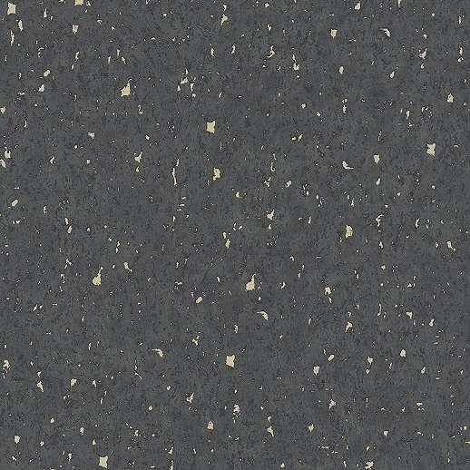 Fekete alapon arany töredezett betonhatású vlies dekor tapéta