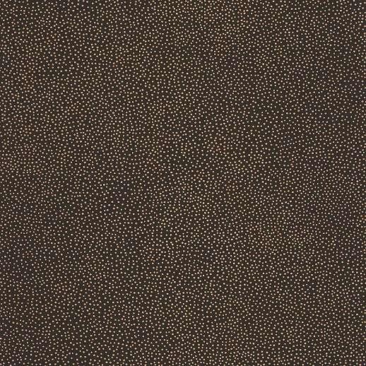Fekete alapon metál fényű arany apró pöttyös mintás vlies caselio tapéta