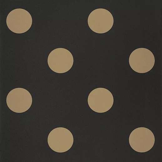 Fekete arany pöttyös mintás tapéta