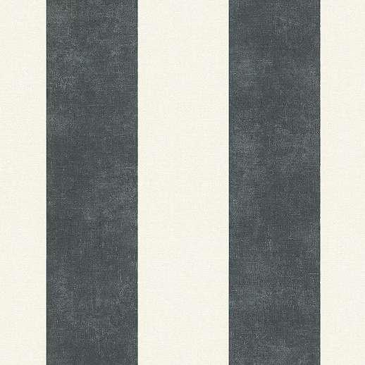 Fekete-fehér csíkos mintás vlies tapéta