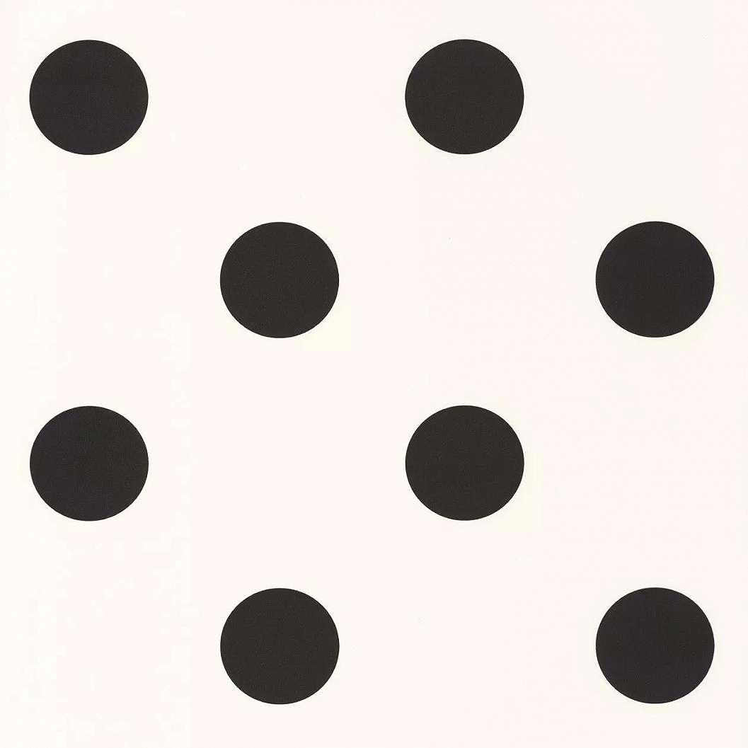 Fekete-fehér pöttyös mintás tapéta